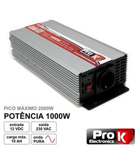 Conversor 12-220Vdc 1000w Onda Pura - PI1000P