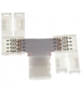 """Conector Rapido """"T"""" Para Fita de Led RGB SMD5050 10mm 4 Fios - MX3020550"""