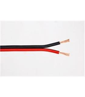 Fio de Coluna Vermelho/Preto 2X0.35mm - Preço por metro - CC035