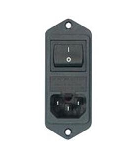 Conector Alimentacao 250VAC 6A Interruptor Fusivel - FN282606