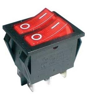Interruptor Basculante Duplo Com Luz Independente - 914BDLI