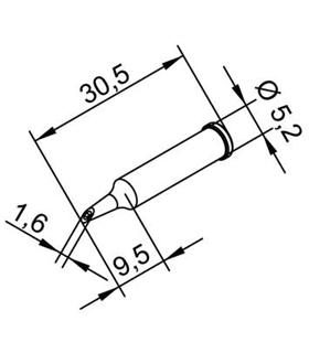 Ponta 1.6mm para ERSA I-Tool - 0102WDLF16/SB