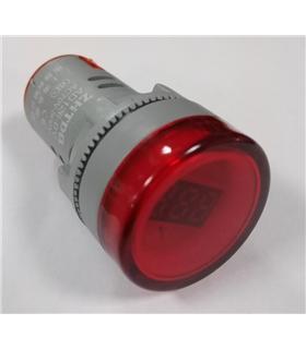 Voltimetro de Painel LED Redondo 22mm 70-500VAC - AD126BV