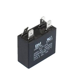 CBB61 - Condensador Filtragem 7uF 450VAC - CBB617U