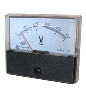 Voltimetro de Painel 500VAC 71x61cm - DH670AC500V
