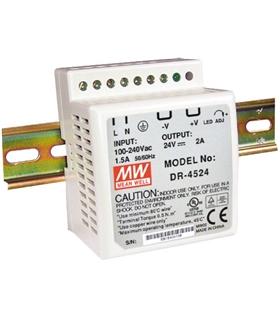 DR4524 - Input 85-264VAC Output 2A 48W Calha Din - DR4524