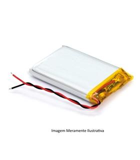 L401520 - Bateria Recarregavel Li-Po 3.7V 70mAh 4x15x20mm - L401520