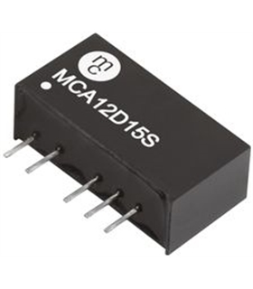 MCA12D05S - Conversor DC/DC, 1W, 5 V, 100 mA, -5 V, 100 mA - MCA12D05S