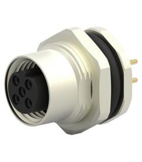 T4141412051000 - Ficha Sensor M12 Femea 5 pinos Painel - T4141412051000