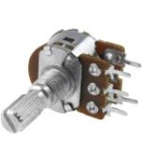 Potenciometro Rotativo C/Veio Duplo 500Kr - 1620500KD