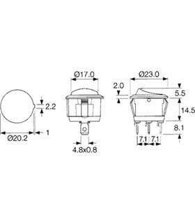 Interruptor Basculante Redondo - 914IBR