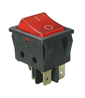 Interruptor Basculante Grande Duplo Com Luz - 914BDL