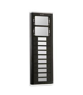 Placa de rua com 9 pulsadores duplos e janelas para 2 mód. - PPD-52209