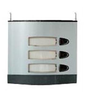 Módulo de placa de rua com 3 pulsador simples - MPS-003