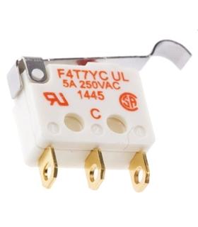 F4T7YC-UL - Micro-Switch Com Patilha  Spdt 2A 250V IP40 - F4T7YC-UL