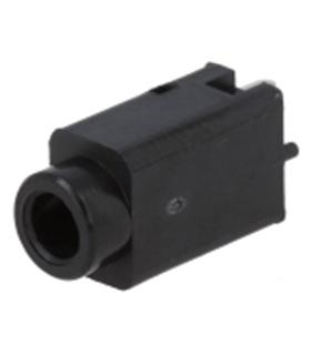 Jack 3.5mm Stereo Fêmea Plástico 180º Para PCB - J3.5SF
