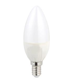 Lâmpada E14 C37 LED 6W 3000K Branco Quente 440lm - E14C376WWW