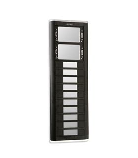 Placa de rua iBLACK com 10 pulsadores simples e 2 janelas - PPS-52210
