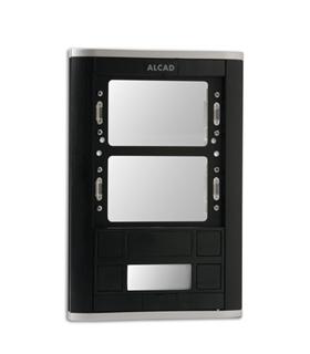 Placa de rua com 1 pulsador duplo e janelas para 2 módulos - PPD-52201