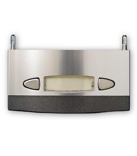 Módulo de placa de rua com 1 pulsador duplo - MPD-001