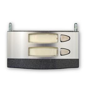 Módulo de placa de rua com 2 pulsador simples - MPS-002