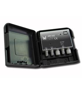 Amplificador 1 entrada, UHF G=32 dB, rejeição LTE - AM-165