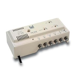 Amplificador de cabeceira 3 ent, 2 sal, UHF-UHF-VHF/FM - CA-310