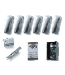 Kit de 3 pulsadores duplos, com sistema de chamada 4+N - KAD-41003