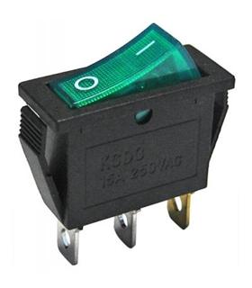 Interruptor Basculante 1 Circuito Verde Luminoso - MX5170615