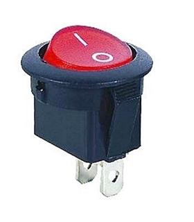 Interruptor Basculante 1 Circuito 6A 250V Vermelho - MX517506