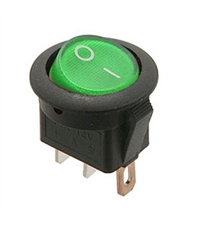 Interruptor Basculante 1 Circuito 16A 12V Verde Luminoso - MX5175616