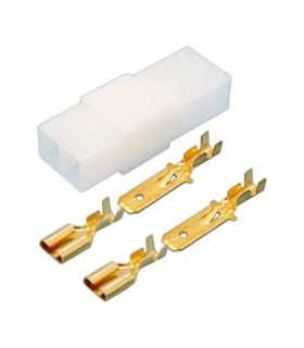 Conector Faston 2 Via Macho/ Fêmea 10.960/2 dh - 10.960/2