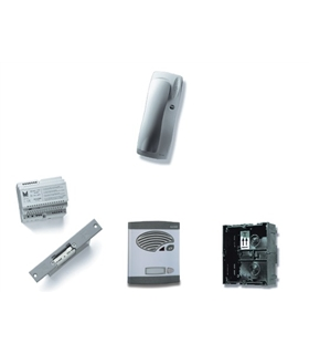Kit porteiro digital de 1 pulsador simples, BUS 2 fios - KAS-47001