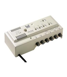Amplificador de cabeceira 5 ent, 2 sal, UHF-BV-BIV-BIII-BI - CA-313