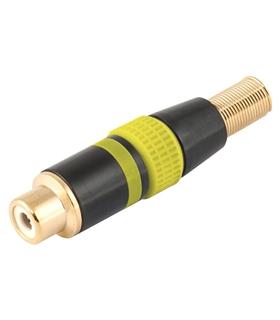 Ficha RCA Femea Amarela Metalica Dourada - FPS409A