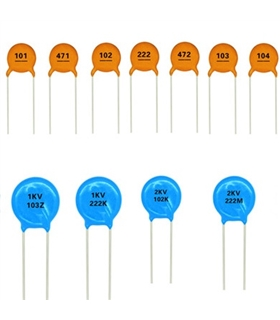 Condensador Ceramico 100nF 50V X7R 10% PT5 - 33100N