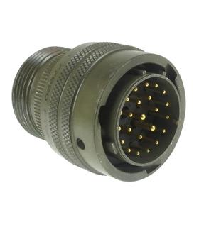 MS3116F8-4P - Ficha Amphenol 4 Pinos Macho 7.5A 600V - MS3116F8-4P
