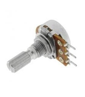 Potenciometro Rotativo Linear Metalico com Veio 500kR - 1620500KM