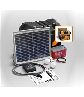 Kit iluminacao LED Solar com Bateria 10W Xunzel - SOLARLIFE10I