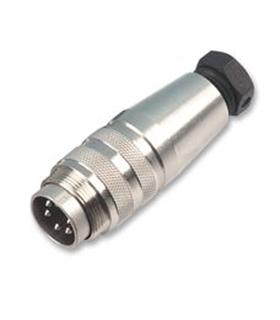 Conector Circular DIN Amphenol C091D, 3 pinos Macho - C09131H0031002
