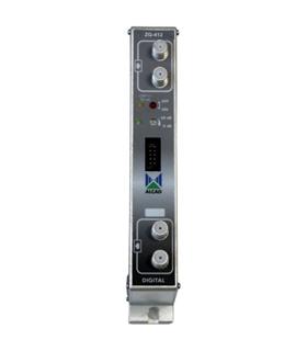 Amplificador bicanal UHF, G=53 dB. Nivel  saida 2 x 123,5db - ZG-412