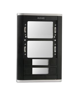 Placa de rua iBLACK com 2 pulsadores simples e 2 janelas - PPS-52202