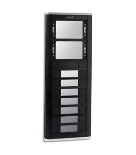 Placa de rua iBLACK com 7 pulsadores simples e 2 janelas - PPS-52207