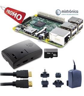 Kit Raspberry Pi 3 B+ com 16Gb, Alimentador 2.5A - RASP3+KIT