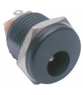 Ficha DC macho 5.5/2.1mm com rosca para fixação em painel - DCMPR21