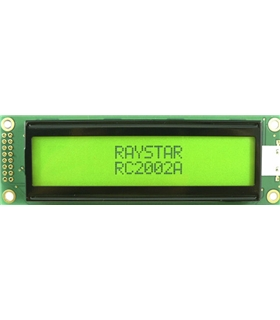 Display LCD STN Positivo 20X2 Verde - RC2002AGHGCSV