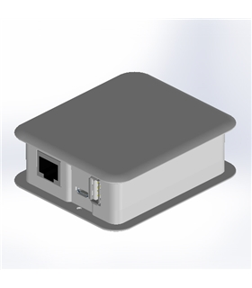 TEK-YUN.40 - Caixa Branca TEKO para Arduino YUN - TEK-YUN.40