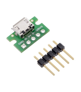 POLOLU 2586 - USB MICRO-B CONNECTOR BREAKOUT BOARD - POLOLU2586
