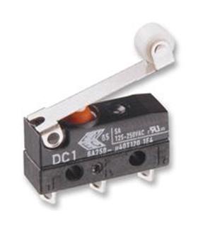 DC3C-L1RC - Microswitch com Rolete 0.1A 250V - DC3CL1RC