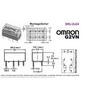 G2VN-237PL - Rele Omron 12V 2 Inv. 2A - G2VN